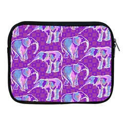 Cute Violet Elephants Pattern Apple iPad 2/3/4 Zipper Cases