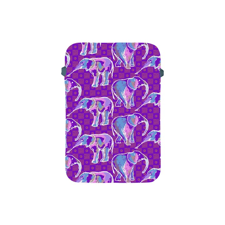 Cute Violet Elephants Pattern Apple iPad Mini Protective Soft Cases