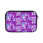 Cute Violet Elephants Pattern Apple iPad Mini Zipper Cases Front