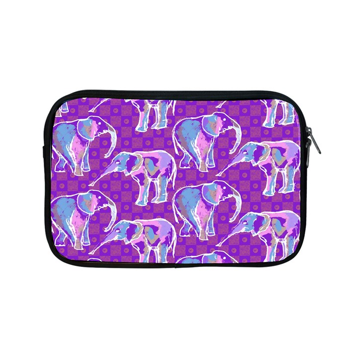 Cute Violet Elephants Pattern Apple iPad Mini Zipper Cases