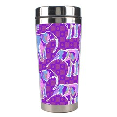 Cute Violet Elephants Pattern Stainless Steel Travel Tumblers