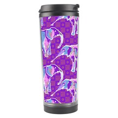 Cute Violet Elephants Pattern Travel Tumbler