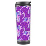 Cute Violet Elephants Pattern Travel Tumbler Left