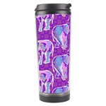 Cute Violet Elephants Pattern Travel Tumbler Center