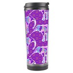 Cute Violet Elephants Pattern Travel Tumbler Right