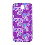 Cute Violet Elephants Pattern Samsung Galaxy S4 I9500/I9505  Hardshell Back Case Front