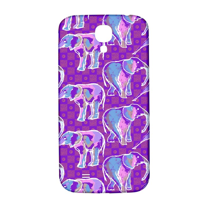 Cute Violet Elephants Pattern Samsung Galaxy S4 I9500/I9505  Hardshell Back Case