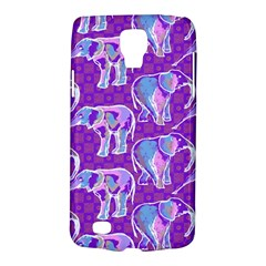 Cute Violet Elephants Pattern Galaxy S4 Active