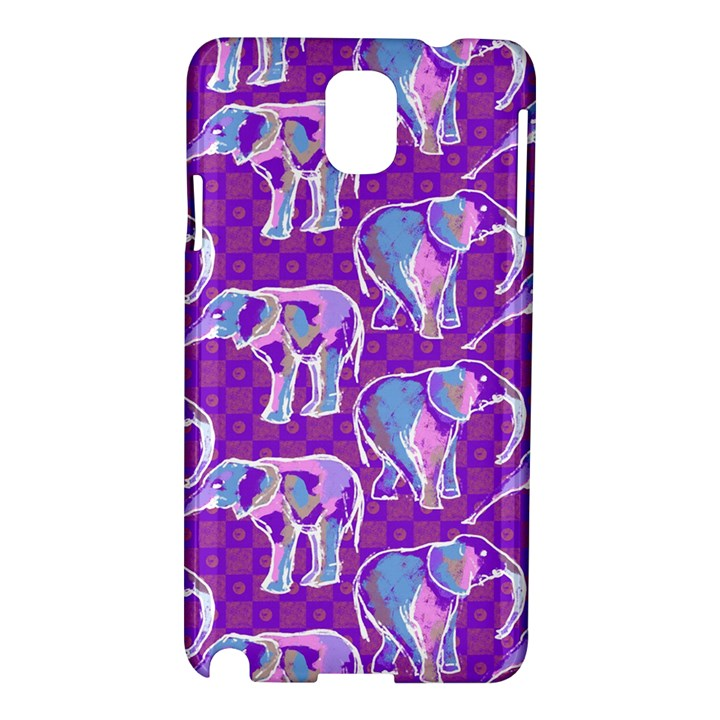 Cute Violet Elephants Pattern Samsung Galaxy Note 3 N9005 Hardshell Case