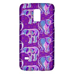 Cute Violet Elephants Pattern Galaxy S5 Mini