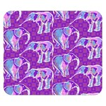 Cute Violet Elephants Pattern Double Sided Flano Blanket (Small)  50 x40 Blanket Back