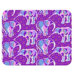Cute Violet Elephants Pattern Double Sided Flano Blanket (medium)