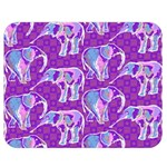 Cute Violet Elephants Pattern Double Sided Flano Blanket (Medium)  60 x50 Blanket Front