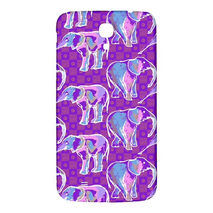 Cute Violet Elephants Pattern Samsung Galaxy Mega I9200 Hardshell Back Case
