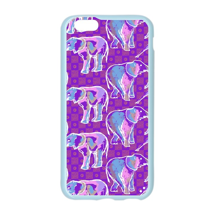 Cute Violet Elephants Pattern Apple Seamless iPhone 6/6S Case (Color)