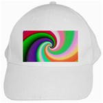 Colorful Spiral Dragon Scales   White Cap Front
