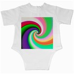 Colorful Spiral Dragon Scales   Infant Creepers Back
