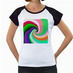 Colorful Spiral Dragon Scales   Women s Cap Sleeve T Front