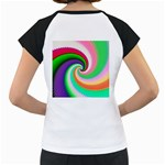 Colorful Spiral Dragon Scales   Women s Cap Sleeve T Back