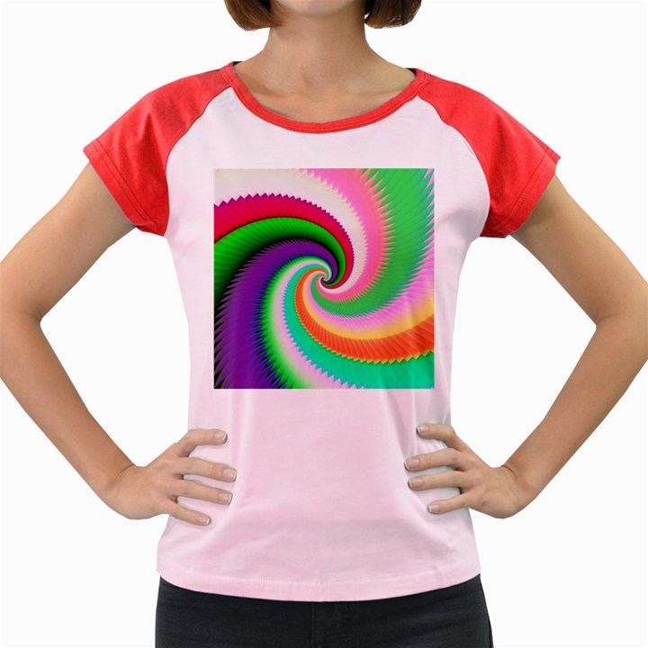 Colorful Spiral Dragon Scales   Women s Cap Sleeve T-Shirt