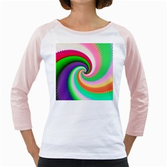 Colorful Spiral Dragon Scales   Girly Raglans