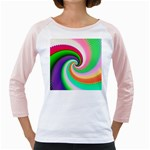 Colorful Spiral Dragon Scales   Girly Raglans Front