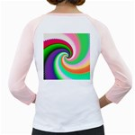 Colorful Spiral Dragon Scales   Girly Raglans Back