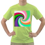 Colorful Spiral Dragon Scales   Green T-Shirt Front