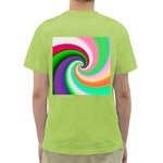 Colorful Spiral Dragon Scales   Green T-Shirt Back