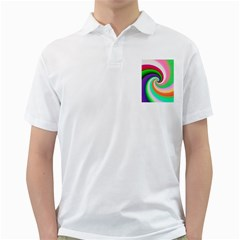 Colorful Spiral Dragon Scales   Golf Shirts