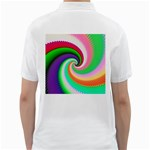 Colorful Spiral Dragon Scales   Golf Shirts Back