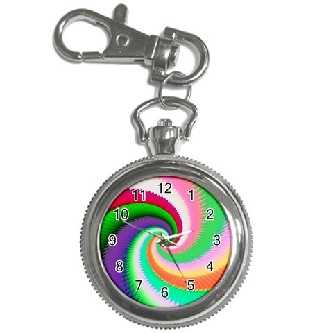 Colorful Spiral Dragon Scales   Key Chain Watches