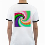 Colorful Spiral Dragon Scales   Ringer T-Shirts Back