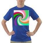 Colorful Spiral Dragon Scales   Dark T-Shirt Front