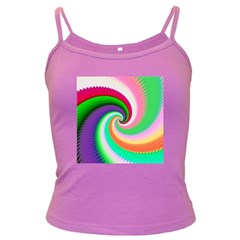 Colorful Spiral Dragon Scales   Dark Spaghetti Tank