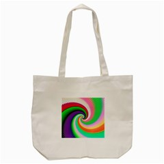 Colorful Spiral Dragon Scales   Tote Bag (Cream)