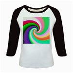 Colorful Spiral Dragon Scales   Kids Baseball Jerseys Front