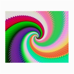 Colorful Spiral Dragon Scales   Small Glasses Cloth