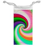Colorful Spiral Dragon Scales   Jewelry Bags Back