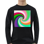 Colorful Spiral Dragon Scales   Long Sleeve Dark T-Shirts Front