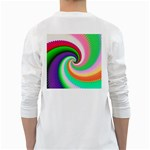 Colorful Spiral Dragon Scales   White Long Sleeve T-Shirts Back
