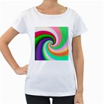 Colorful Spiral Dragon Scales   Women s Loose-Fit T-Shirt (White) Front