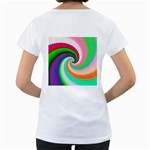 Colorful Spiral Dragon Scales   Women s Loose-Fit T-Shirt (White) Back