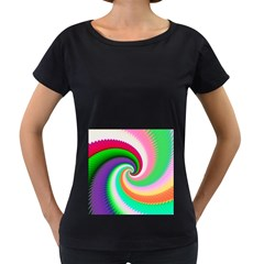 Colorful Spiral Dragon Scales   Women s Loose Fit T Shirt (black)