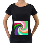 Colorful Spiral Dragon Scales   Women s Loose-Fit T-Shirt (Black) Front