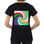 Colorful Spiral Dragon Scales   Women s Loose-Fit T-Shirt (Black) Back