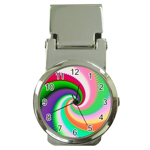 Colorful Spiral Dragon Scales   Money Clip Watches