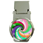Colorful Spiral Dragon Scales   Money Clip Watches Front