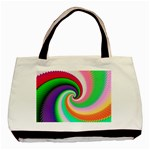 Colorful Spiral Dragon Scales   Basic Tote Bag Front