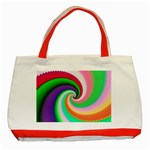 Colorful Spiral Dragon Scales   Classic Tote Bag (Red) Front